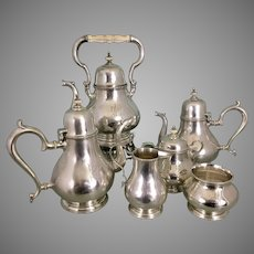 Rogers, Lunt & Bowlen Sterling Silver Tea Coffee Set Service As Is Treasure Pattern