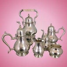Rogers, Lunt & Bowlen Sterling Silver Tea Coffee Set Service As Is Treasure Pattern
