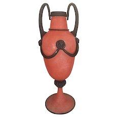 Gambaro & Poggi Vietri Murano Italy Scavo Vase Urn Vase Venetian