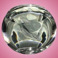Rare Steuben Crystal Glass James Houston Salmon Pool W Box & Light Fish