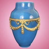 French Sevres Porcelain Paul Milet Millet Cabinet Vase W Mounted Bronze Ormolu Swags