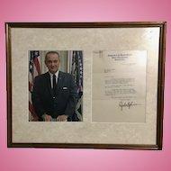 President Lyndon Baines Johnson Signed Senate Letter 1939 Autograph