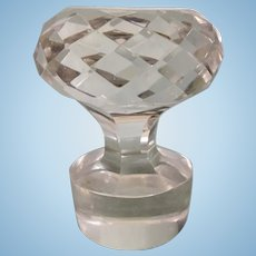 Vintage Cut Glass Crystal Decanter Faceted Stopper