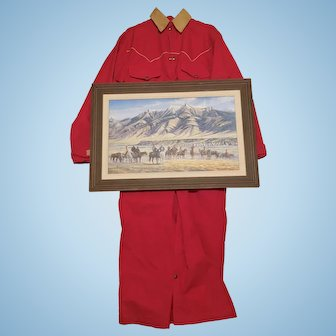 Astronaut Wally Schirra Owned Charlie Russell Riders Duster Coat & Larry Zabel Canvas Signed