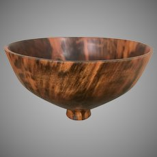 Kelly Dunn Woodworker Artist Footed Turned Wood Bowl Norfolk Pine