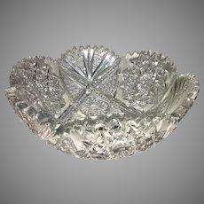 Antique ABP Cut Crystal Glass Bowl American Brilliant Pattern