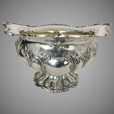Large Gorham Chantilly Sterling Silver Center Bowl Repousse Floral Scrolls