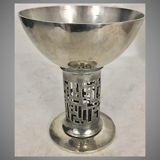 Art Nouveau Secessionist Silver Plate Chalice Hagenauer Style Pierced Jugendstil