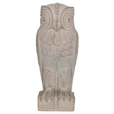 Art Deco Style Library Of Congress Owl Bookend Sculpture Signed