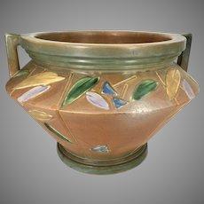 "Rare Roseville Pottery Futura Art Deco Jardiniere Planter Vase Large at 13"" Wide"