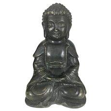 Chinese Bronze Ming Style Buddha Sculpture Dhyana Mudra