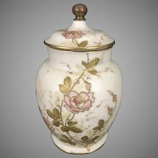 CAC 1889 Lenox Belleek Porcelain Potpourri Lidded Jar Floral Roses