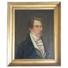 73bac365f03a 18th 19th Century Portrait Oil Canvas Painting Handsome Young Man English  School