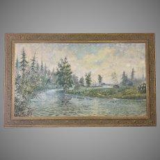 Willard Ayer Nash Original Landscape Oil Painting Canvas Framed Listed