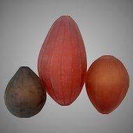 3 Murano Venetian Italy Glass Vases By Laura De Santillana Arcade Glassworks Cenedese Blown