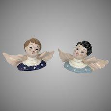 Vintage Kay Finch California Pottery Boy & Girl Angel Busts
