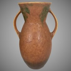 "1930's Roseville Art Pottery Vase Art Deco Windsor Pattern 10.5"" Tall Ohio Pottery"