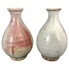 Mingei Museum Founder Martha Longnecker Japanese Porcelain Stoneware Pottery Vases Estate of