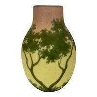 Almeric Walter Noted Nancy France Glass Artist Rare Pottery Vase Landscape