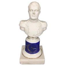 Bisque & Glazed Porcelain Bust Napoleon Bonaparte Paris French Sevres Style