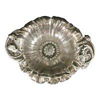 Reed & Barton Sterling Silver Master Nut Bon Bon Dish Candy Bowl Repousse