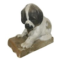 Salesman Sample Puppy Dog Pottery Northwestern Terra Cotta Denver C1920 Paperweight Doorstop