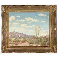 Roger Scott Palm Springs CA Plein Air Desert Landscape Oil Canvas Artist Ruth Bortell Framed California