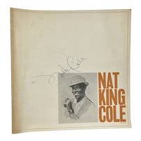 Nat King Cole Authentic Vintage Autograph Signature on Album Liner Notes /Program Jazz