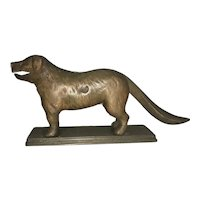 1898 Cast Iron Figural Mechanical Metal St Bernard Dog Nut Cracker By Chicago Hardware Foundry Co.