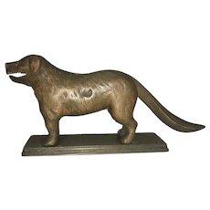 1898 Cast Iron Figural Mechanical Metal St Bernard Dog Nut Cracker By Chicago Hardware Foundry Co.