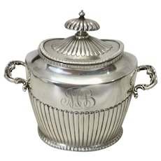 Small Bigelow Kennard & Co Sterling Silver Tea Caddy W Handles Boston