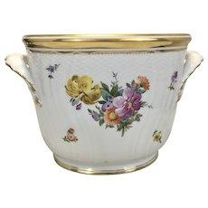 Vintage Royal Copenhagen Saxon Flower Porcelain Wine Champagne Cooler/ Bucket Planter 1955 Denmark