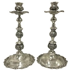 Pair Vintage Otaduy Mexican Sterling Silver Candle Holder Candleholder Stick
