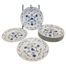 8 Bing Grondahl Denmark B&G Porcelain Bread Dessert Plates Butterfly Pattern B&W