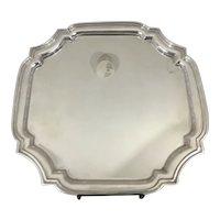 "Tiffany & CO Sterling Silver Adams Cut Corner Square Tray 12.25"" x 12.25"" #25144"