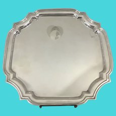 "Tiffany & CO Sterling Silver Adams Cut Corner Square Tray 12.25"" x 12.25"" #25144"