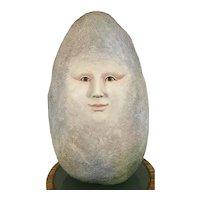 Sergio Bustamante Studio Egg Face Man Art Pottery Sculpture 19/100 Mexican Artist