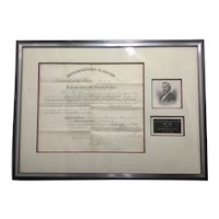 Framed Autograph Signed Document US President Rutherford B. Hayes Aurin Nichols Railroad Commission