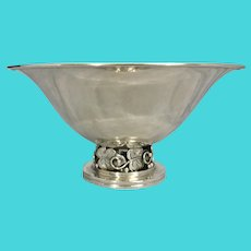 Georg Gleerup 836 Danish Silver Footed Bowl Compote Pierced Base Denmark