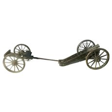 1819 French Howitzer Gribeauval Cannon & Limber Artillery Model Salesman Sample