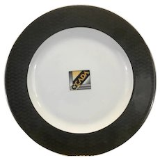 Art Deco Eschenbach Porcelain China Charger Plate Cicada Logo Germany
