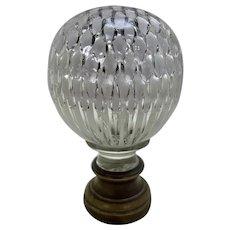 Antique Baccarat Glass Newell Post Finial France Boule d'Escalier