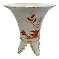 Carl Teichert Czech Porcleain Meissen Marked Art Deco Footed Vase As Is