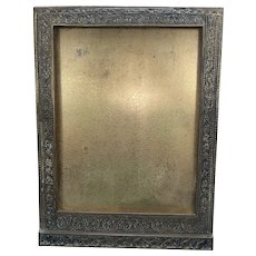 Antique Tiffany Studios Dore Bronze Venetian Pattern Photo Picture Frame Stamped