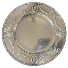930 Sterling Silver Salver Dish Simon Rosenau Germany Repousse Frederick The Great Hanau
