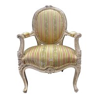 Antique French Louis XV Style Fauteuil Child's Arm Chair