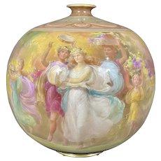 Lg English Art Nouveau Burslem Royal Doulton Lucian Ware Porcelain Pottery Vase By George White