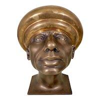 Rudolf Hausner Patinated Bronze Bust Male Sculpture Vienna School Fantastic Realism