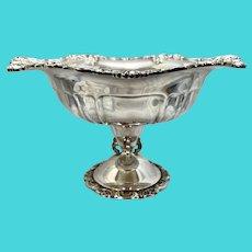 Wallace Silver Plate Grand Baroque Pedestal Compote Centerpiece Fruit Bowl
