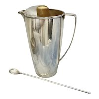 Vintage Tiffany & Co Sterling Silver Cocktail Martini Pitcher Shaker W Stirrer Spoon M 23058